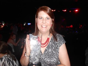 Debbie with award